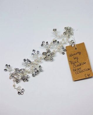 Fiocco perle e fiori sposa